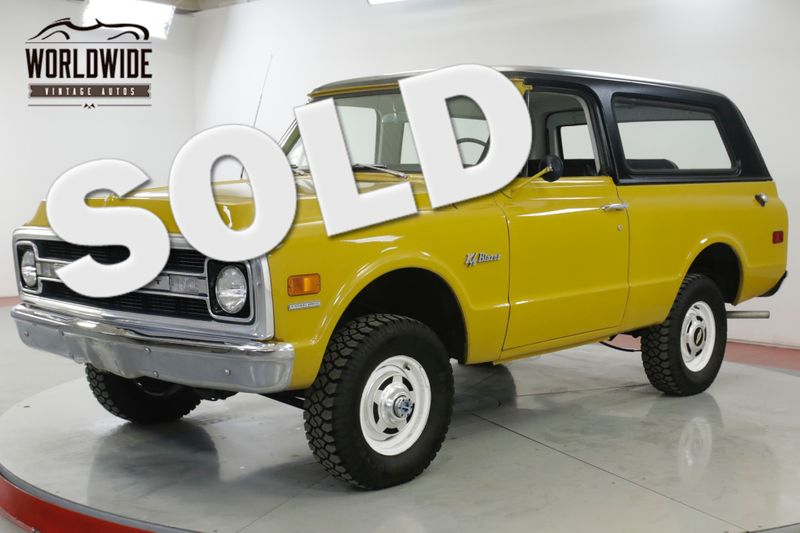 1970 Chevrolet BLAZER  TIME CAPSULE EARLY BLAZER REMOVABLE TOP PS | Denver, CO | Worldwide Vintage Autos