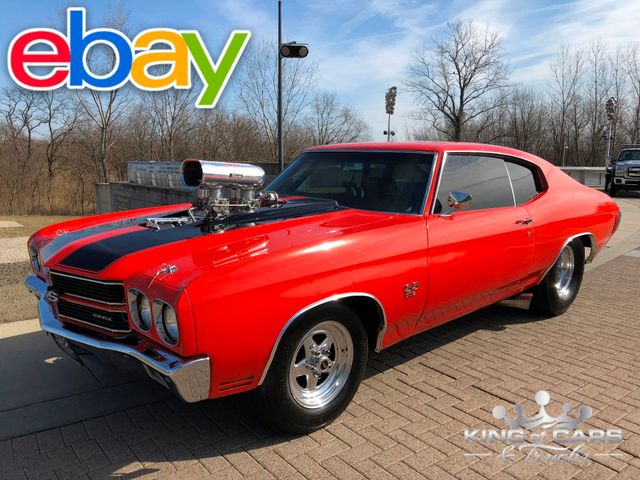 1970 Chevrolet Chevelle Ss Pro STREET 502 SUPERCHARGED BLOWN FRAMEOFF RESTO WOW