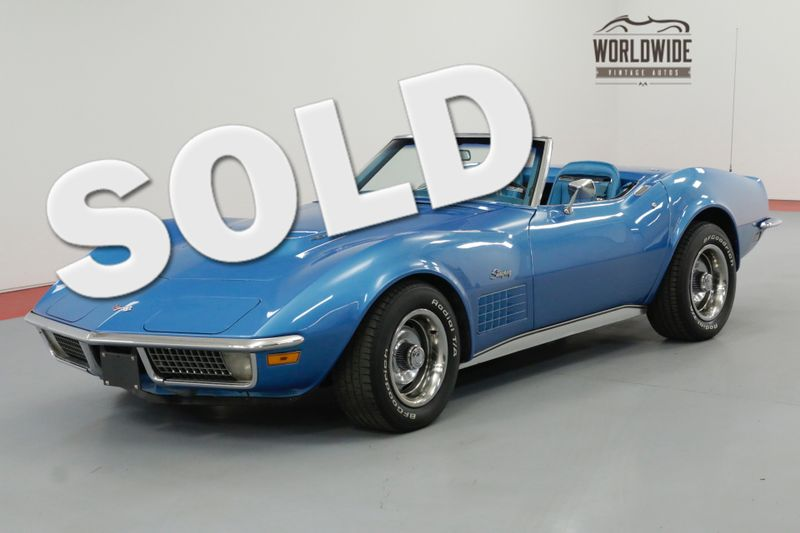 1970 Chevrolet CORVETTE  454 4 SPEED MANUAL A/C BIG BLOCK! | Denver, CO | Worldwide Vintage Autos
