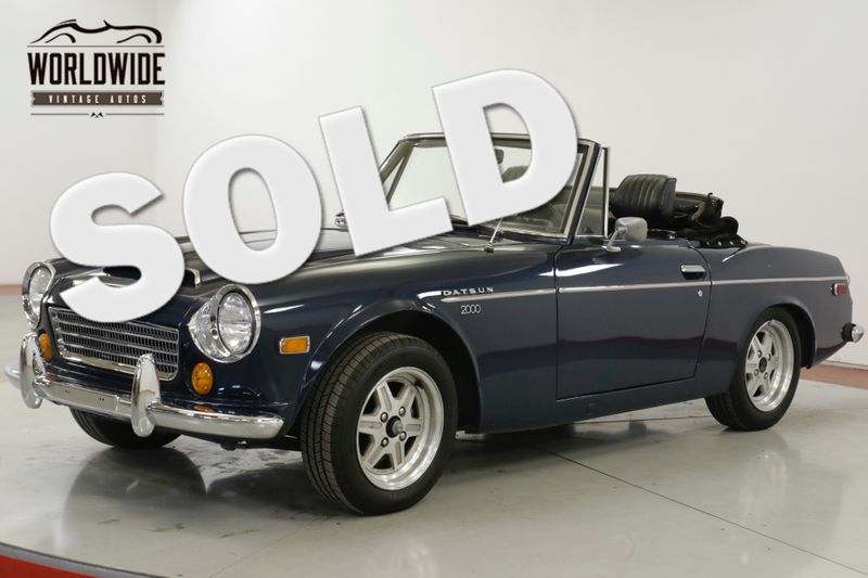 1970 Datsun 2000 ROADSTER RARE 5-SPEED BUCKET SEATS ALLOY WHEELS | Denver, CO | Worldwide Vintage Autos