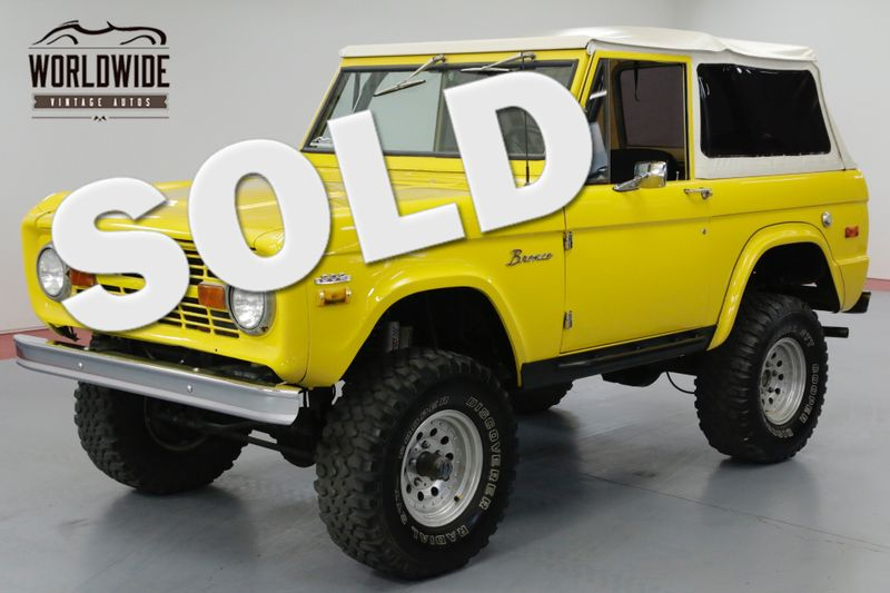 1970 Ford BRONCO CRATE 302 V8. LIFT. PS. PB. 4x4 CONVERTIBLE!   Denver, CO   Worldwide Vintage Autos