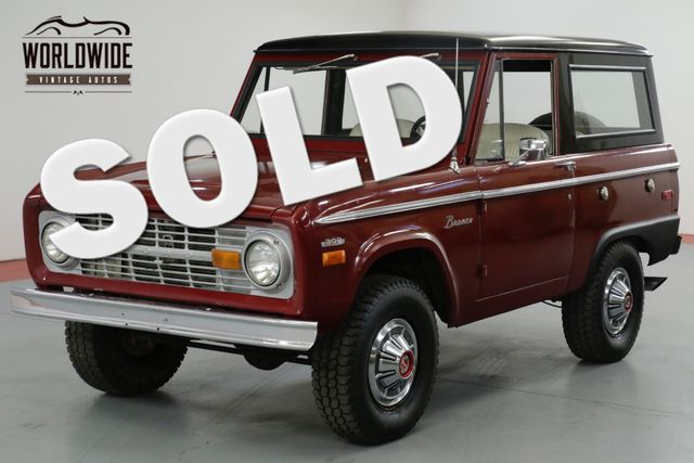 1970 Ford BRONCO 302V8. UNCUT. RESTORED! PS FACTORY HUBCAPS!  | Denver, CO | Worldwide Vintage Autos in Denver CO