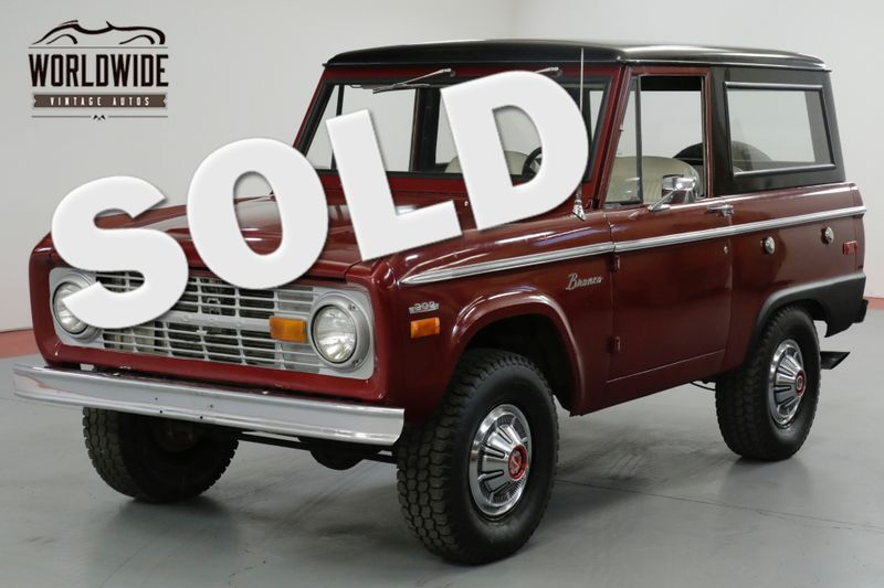 1970 Ford BRONCO 302V8. UNCUT. RESTORED! PS FACTORY HUBCAPS!  | Denver, CO | Worldwide Vintage Autos