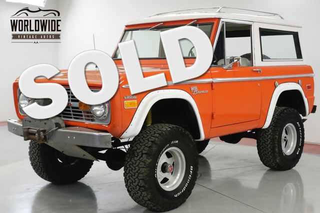 1970 Ford BRONCO 4x4 302 V8 RARE VISTA ORANGE LIFT NEW PAINT | Denver, CO | Worldwide Vintage Autos in Denver CO