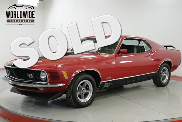 1970 Ford MUSTANG MACH 1 351W AUTOMATIC PS PB MUST SEE  | Denver, CO | Worldwide Vintage Autos in Denver CO