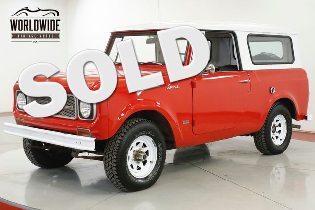 1970 International SCOUT 800A CONVERTIBLE TOP CLEAN DRIVER WINTER READY | Denver, CO | Worldwide Vintage Autos in Denver CO