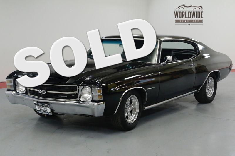 1971 Chevrolet CHEVELLE SS TRIBUTE. STUNNING BLACK. PS. PB. CONSOLE SHIFT.   Denver, CO   Worldwide Vintage Autos