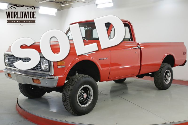 1971 Chevrolet K10 350 V8 4X4 4-SPEED NEW PAINT PS PB MUST SEE | Denver, CO | Worldwide Vintage Autos