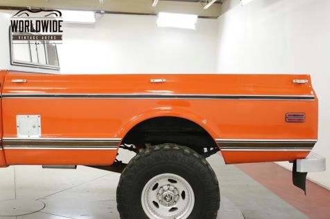 1971 Chevrolet SUPER CHEYENNE PS PB LIFTED HUGGER ORANGE C10/K10 | Denver, CO | Worldwide Vintage Autos in Denver, CO