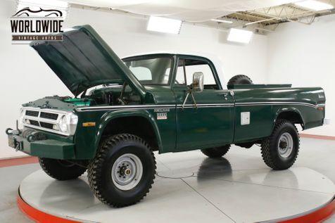 1971 Dodge POWER WAGON W200 RARE 4x4 COLLECTOR CA TRUCK WINCH V8 | Denver, CO | Worldwide Vintage Autos in Denver, CO