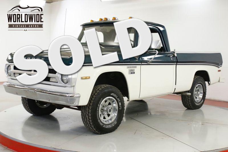 1971 Dodge POWER WAGON  RARE SHORT BED FACTORY 4X4 BIG BLOCK 383 V8 | Denver, CO | Worldwide Vintage Autos