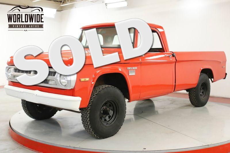 1971 Dodge POWER WAGON  W100 X4 REBUILT 383 V8 SWEPTLINE RARE | Denver, CO | Worldwide Vintage Autos