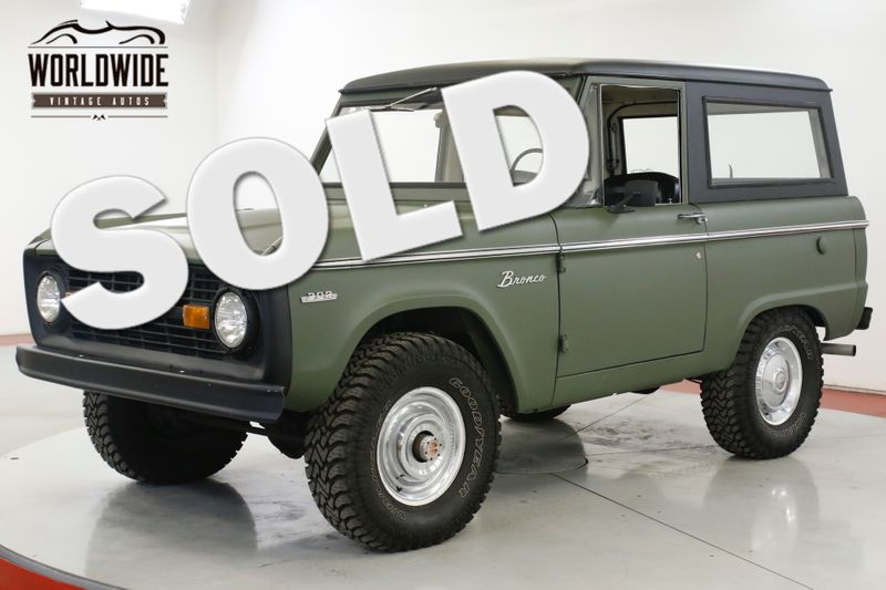 1971 Ford BRONCO UNCUT EARLY BRONCO 302V8 AUTO FULL HARD TOP  | Denver, CO | Worldwide Vintage Autos
