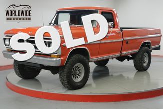 1971 Ford F250  390 V8. 4-SPEED PS PB 4X4 ONE TON AXLES  | Denver, CO | Worldwide Vintage Autos in Denver CO