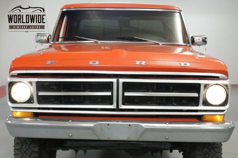 1971 Ford F250  390 V8. 4-SPEED PS PB 4X4 ONE TON AXLES  | Denver, CO | Worldwide Vintage Autos in Denver, CO