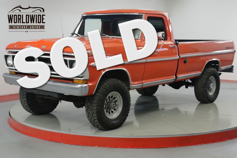 1971 Ford F250  390 V8. 4-SPEED PS PB 4X4 ONE TON AXLES  | Denver, CO | Worldwide Vintage Autos
