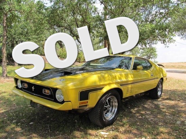 1971 Ford Mustang Mach 1  429 W Ram AIr Liberty Hill, Texas