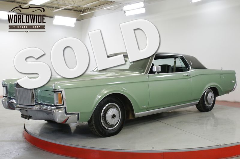 1971 Lincoln CONTINENTAL  MARKIII COUPE FACTORY AIR LEATHER PS PB PW   Denver, CO   Worldwide Vintage Autos