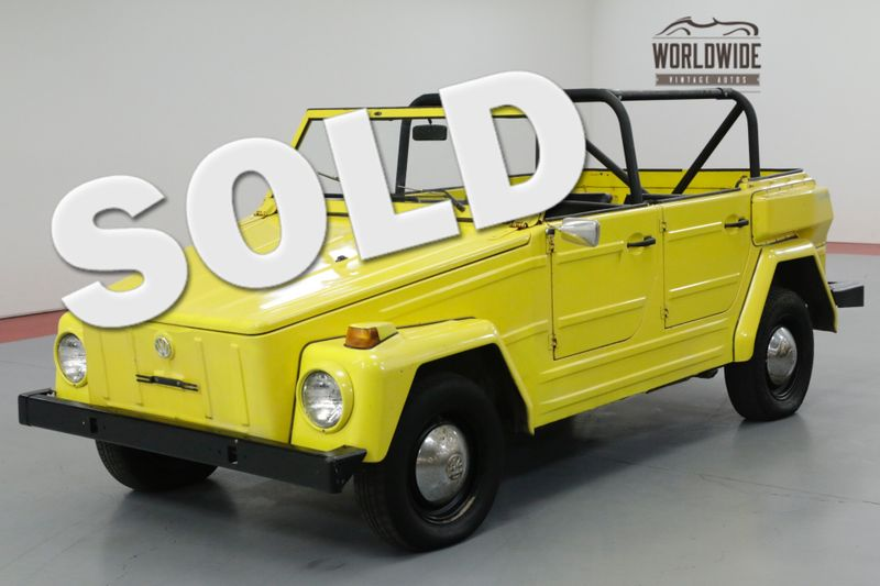 1974 Volkswagen THING COLLECTOR CONVERTIBLE! DRY WY CAR. DRIVER!  | Denver, CO | Worldwide Vintage Autos