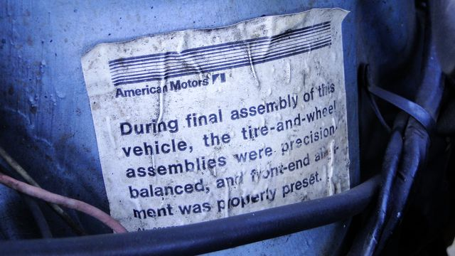 "1972 American Motors JAVELIN SST 401  1 OF 82  ""POLICE SPECIAL"" Phoenix, Arizona 17"
