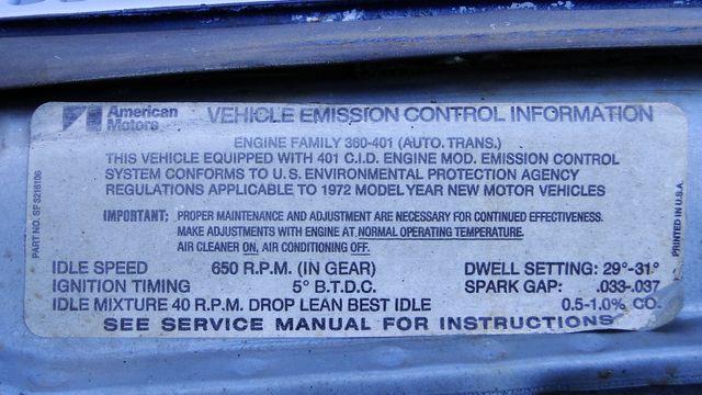 "1972 American Motors JAVELIN SST 401  1 OF 82  ""POLICE SPECIAL"" Phoenix, Arizona 19"