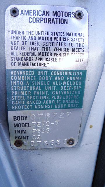 "1972 American Motors JAVELIN SST 401  1 OF 82  ""POLICE SPECIAL"" Phoenix, Arizona 52"