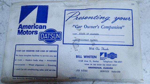 "1972 American Motors JAVELIN SST 401  1 OF 82  ""POLICE SPECIAL"" Phoenix, Arizona 54"