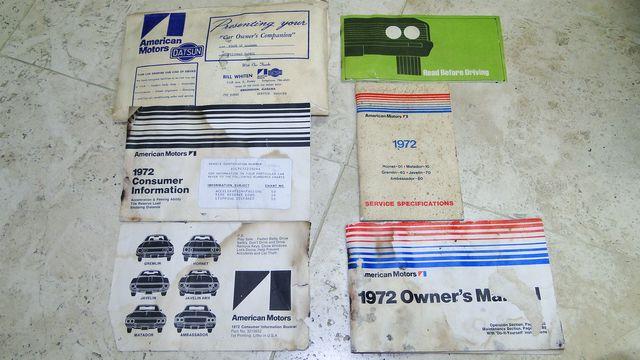"1972 American Motors JAVELIN SST 401  1 OF 82  ""POLICE SPECIAL"" Phoenix, Arizona 61"