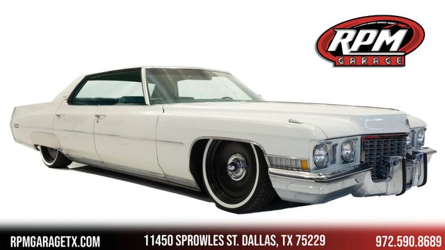1972 Cadillac Sedan DeVille Bagged with Many Upgrades