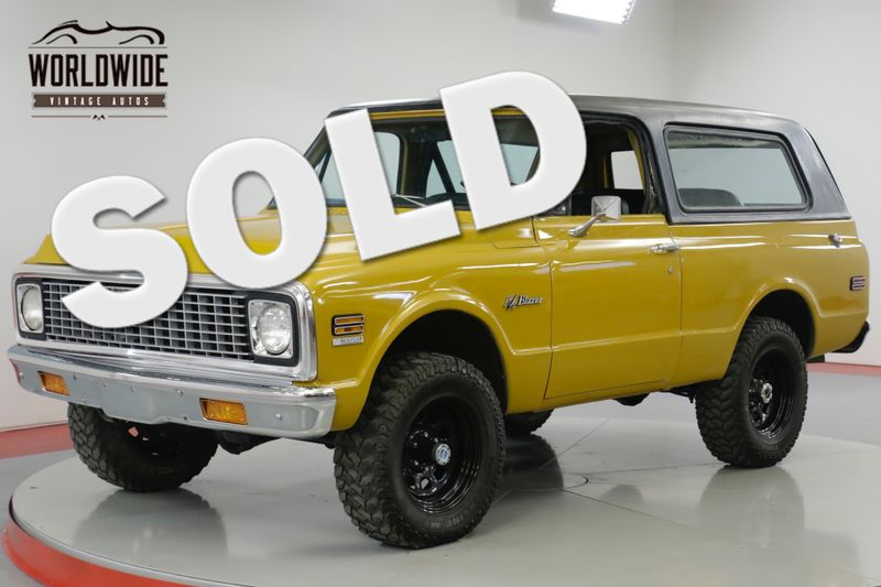 1972 Chevrolet BLAZER RESTORED CST 4x4 PS PB AUTO 89K ORIGINAL MILES | Denver, CO | Worldwide Vintage Autos