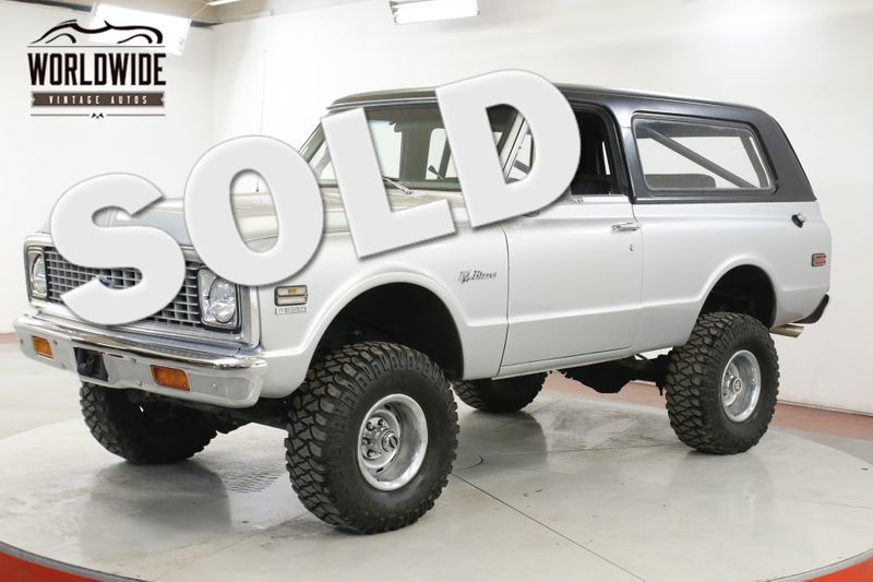 1972 Chevrolet BLAZER V8 PS PB LIFTED REMOVABLE HARDTOP VINTAGE AC  | Denver, CO | Worldwide Vintage Autos