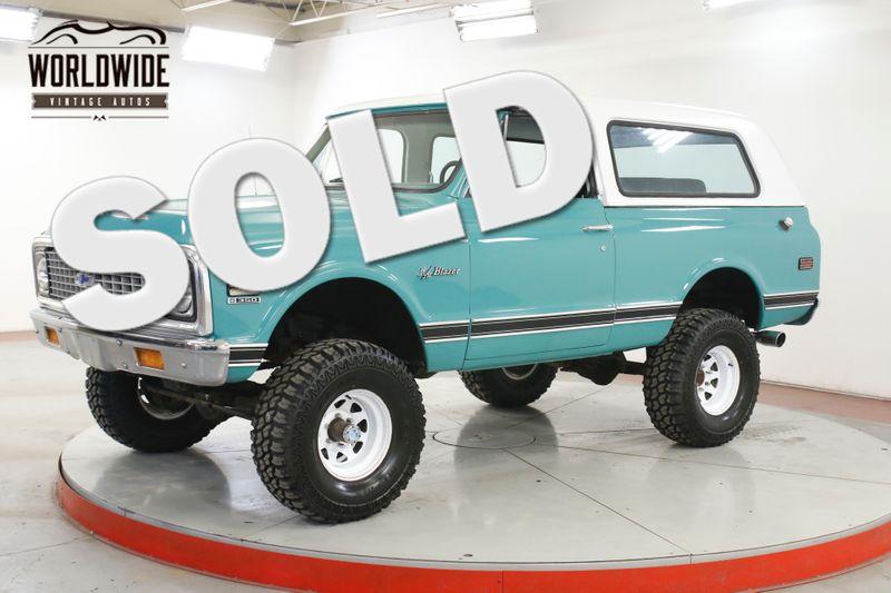 1972 Chevrolet BLAZER K5 V8 4X4 PS PB LIFTED REMOVABLE TOP  | Denver, CO | Worldwide Vintage Autos