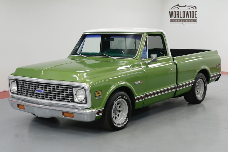 1972 Chevrolet C10 CHEYENNE 350 V8 AUTOMATIC AC SHORT BOX CST TRIM  | Denver, CO | Worldwide Vintage Autos