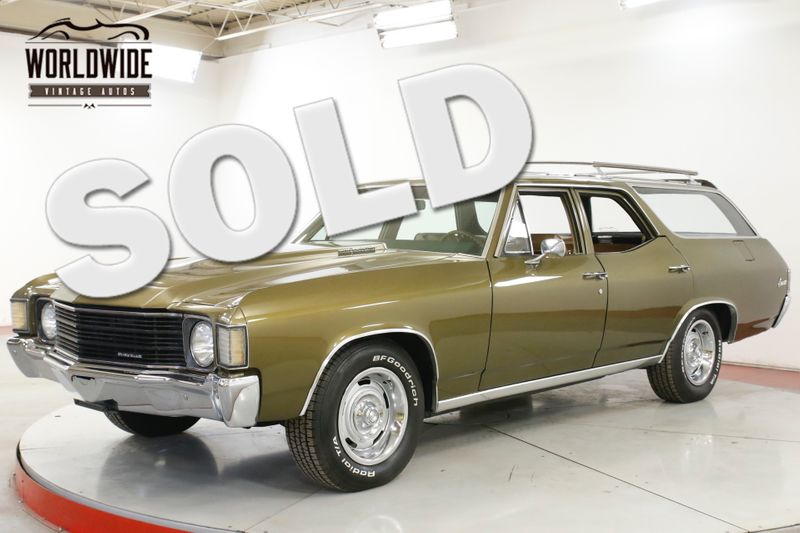 1972 Chevrolet CHEVELLE RARE WAGON V8 COWL CLEAN SHOW READY | Denver, CO | Worldwide Vintage Autos
