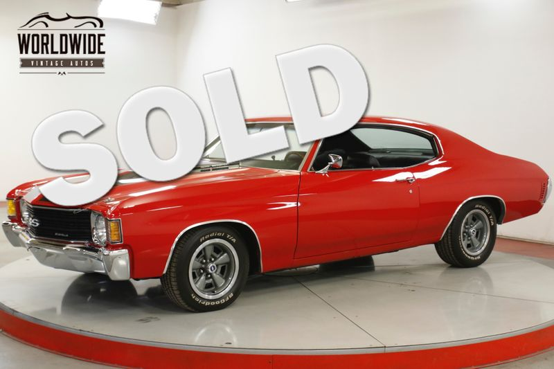 1972 Chevrolet CHEVELLE  BIG BLOCK 454 AUTO SS TRIBUTE PS PB DISC  | Denver, CO | Worldwide Vintage Autos