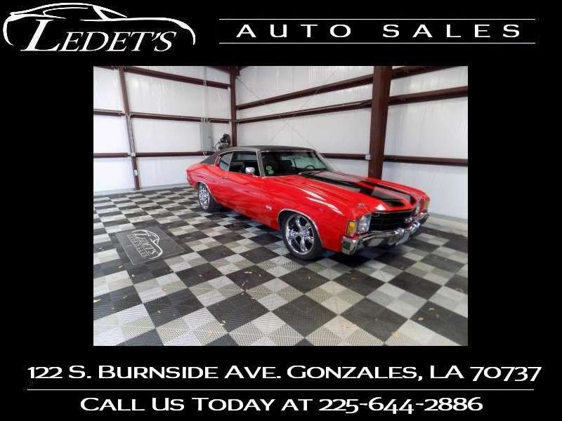1972 Chevrolet Chevelle 454 SS  - Ledet's Auto Sales Gonzales_state_zip in Gonzales Louisiana
