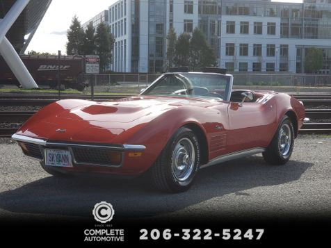 1972 Chevrolet Corvette Convertible Matching LS5 454 Factory AC Hardtop Local History in Seattle