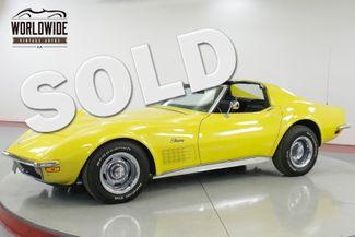 1972 Chevrolet CORVETTE STINGRAY - T-TOPS  | Denver, CO | Worldwide Vintage Autos in Denver CO