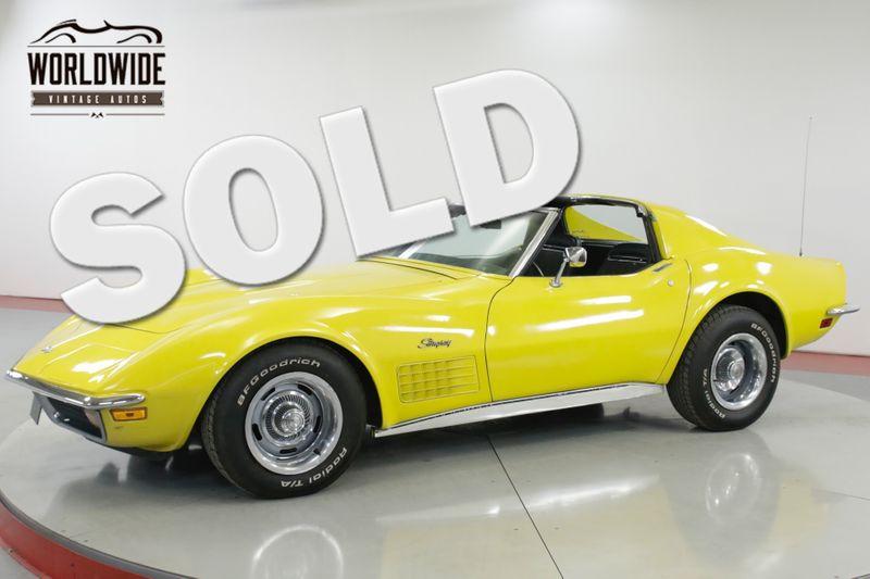 1972 Chevrolet CORVETTE STINGRAY - T-TOPS  | Denver, CO | Worldwide Vintage Autos