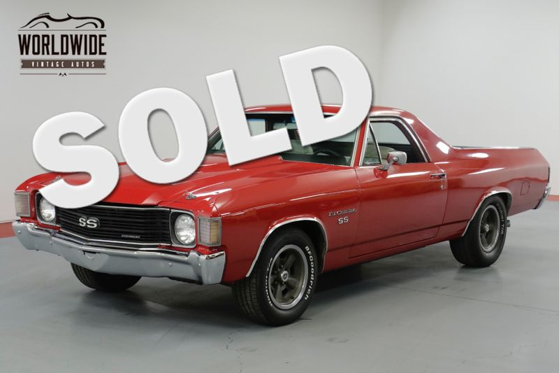 1972 Chevrolet EL CAMINO SS  RESTORED. TRUE SS. RARE 4 SPEED! AC!  | Denver, CO | Worldwide Vintage Autos
