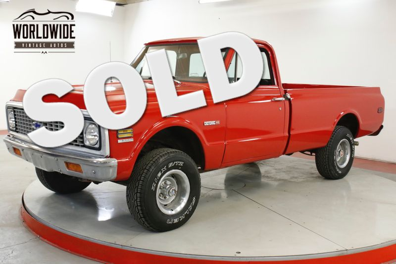 1972 Chevrolet TRUCK K10 350 V8 4-SPEED MANUAL 4X4 PB | Denver, CO | Worldwide Vintage Autos
