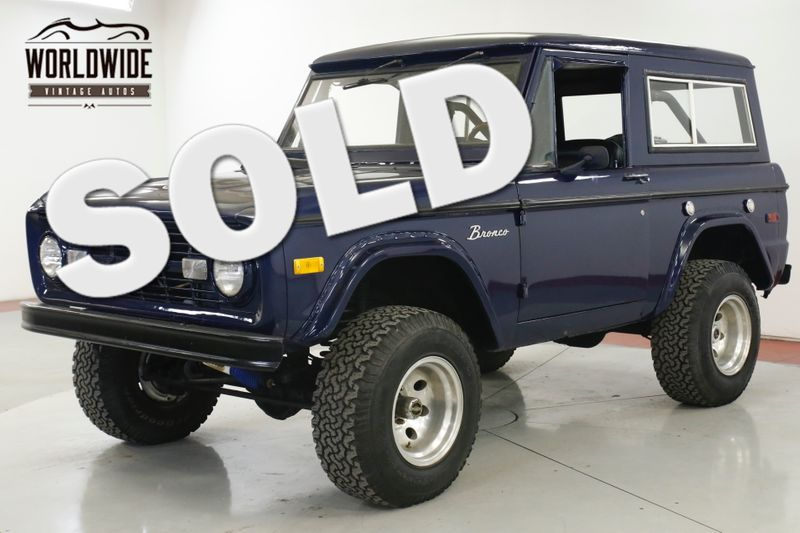 1972 Ford BRONCO  V8! 4x4 PS PB REMOVABLE HARD TOP LIFT | Denver, CO | Worldwide Vintage Autos