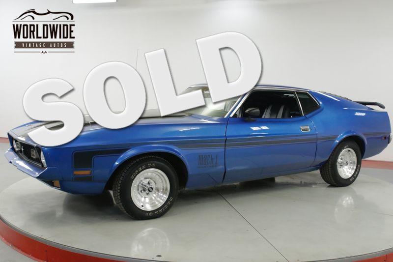 1972 Ford MUSTANG MACH I V8 CODE C6 | Denver, CO | Worldwide Vintage Autos