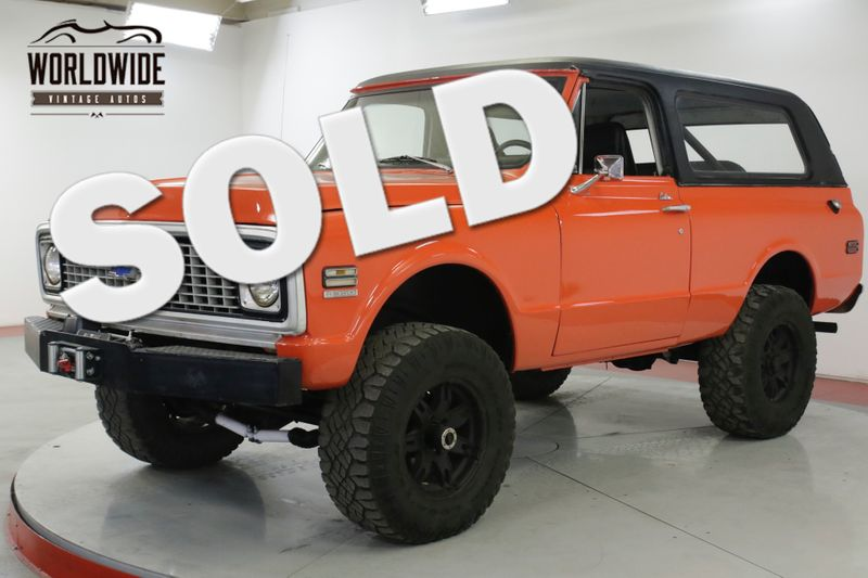 1972 GMC JIMMY V8 PS PB REMOVABLE TOP HUGGER ORANGE BLAZER | Denver, CO | Worldwide Vintage Autos