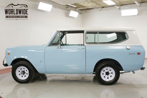 1972 International SCOUT REMOVABLE TOP 4X4 AUTO V8  | Denver, CO | Worldwide Vintage Autos in Denver, CO