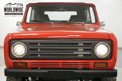 1972 International SCOUT  4x4 CONVERTIBLE V8 PB 66K MILES CA TRUCK  | Denver, CO | Worldwide Vintage Autos in Denver, CO