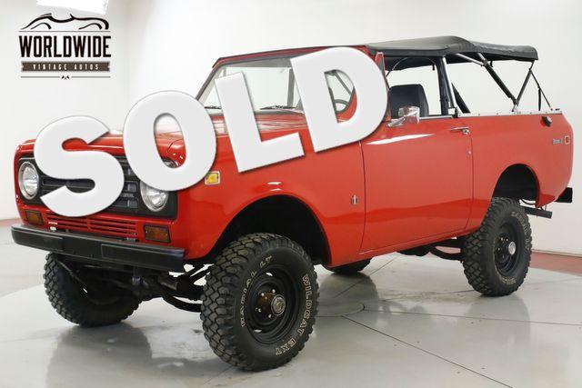 1972 International SCOUT  4x4 CONVERTIBLE V8 PB 66K MILES CA TRUCK    Denver, CO   Worldwide Vintage Autos in Denver CO