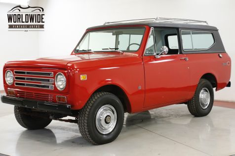 1972 International SCOUT  II 4x4 CONVERTIBLE 345 V8 PS PB COLLECTOR | Denver, CO | Worldwide Vintage Autos in Denver, CO