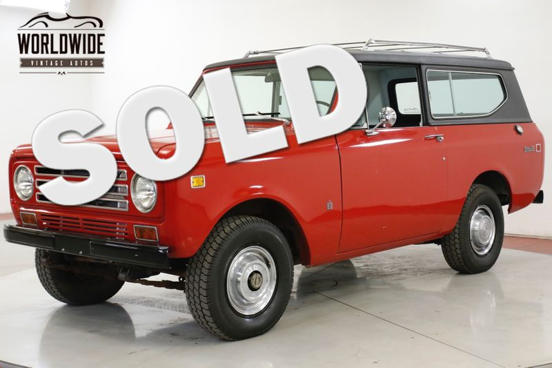 1972 International SCOUT  II 4x4 CONVERTIBLE 345 V8 PS PB COLLECTOR | Denver, CO | Worldwide Vintage Autos