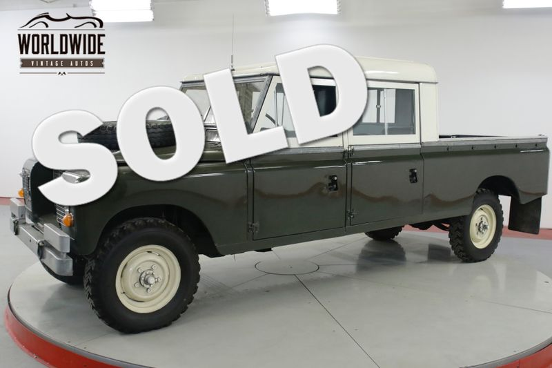 1972 Land Rover SERIES CREW CAB CUMMINS TURBO DIESEL 5 SPD DEFENDER | Denver, CO | Worldwide Vintage Autos